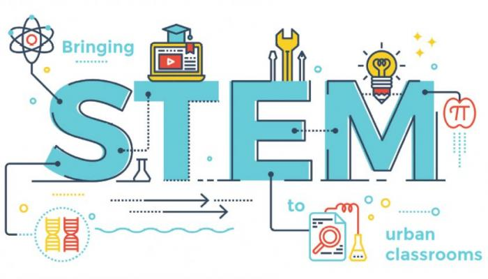 Science, Technology, Engineering and Math logo.