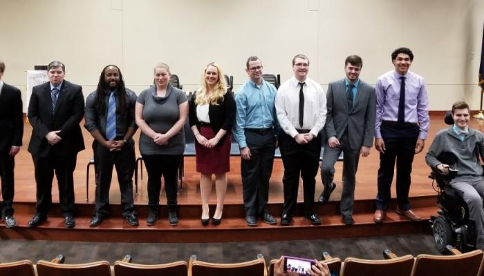Upsilon Pi Epsilon induction ceremony at Davenport University